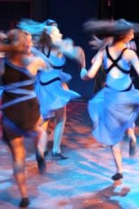 dancers in Blue dress