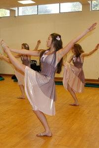 dancers in lyrical dresses