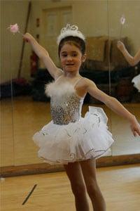 Girl in Ballet tutu and tiara