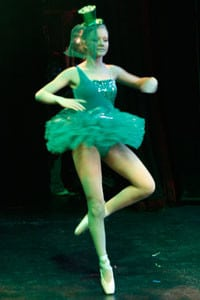 Girl in Green Tutu and hat